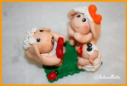 Les moutons fimo de la saint valentin
