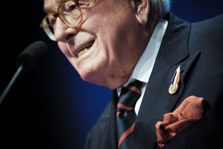 Jean-Marie Le Pen, lors de la convention présidentielle du FN, le 18 février à Lille.