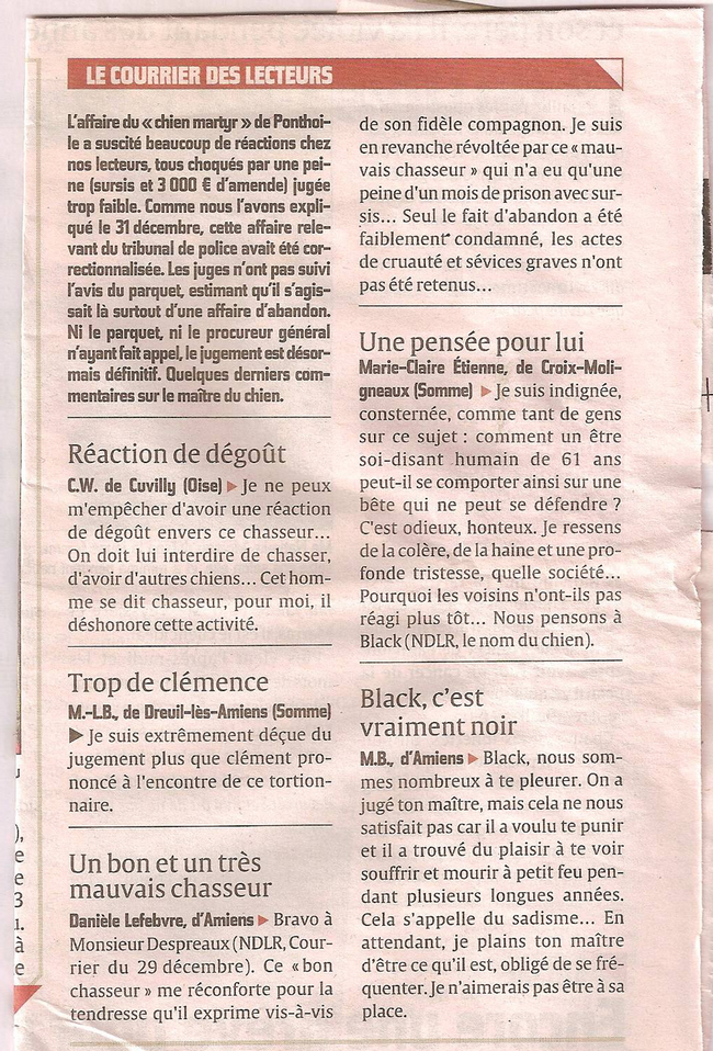Article du Courrier Picard du 24/01/22012