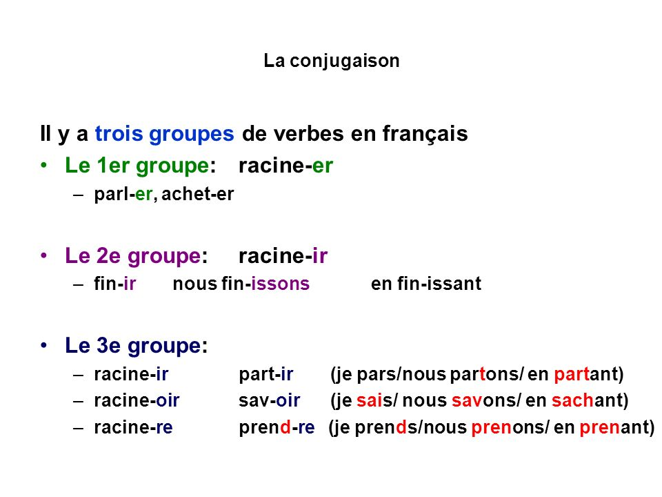 Quelques Verbes Du 3eme Groupe Un Peu Difficiles L Examen Normalise College Lycee