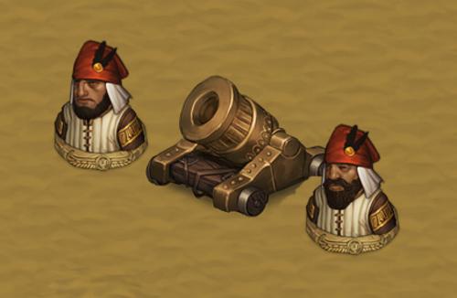 Battle Brothers, DLC Blazing Deserts, unités utilisant les armes à feu