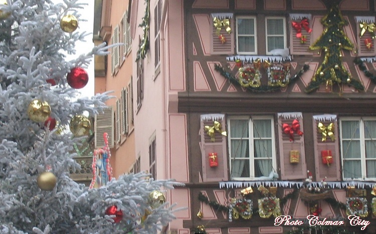 Au temps des marchés de Noël : Colmar  au centre-ville