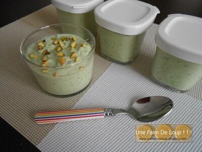 Riz au lait crémeux à la pistache
