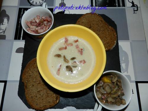 Velouté poulet-champignons-lardons