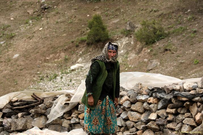 Village en contrebas du lac Guitara, Tadjikistan