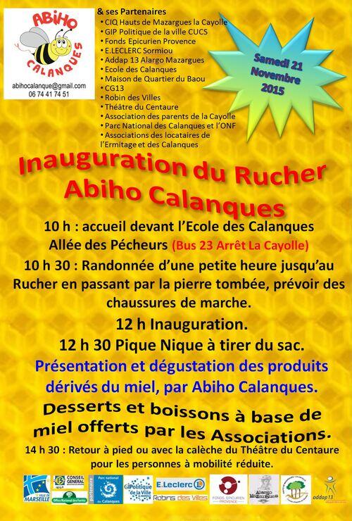 Inauguration du Rucher Abiho Calanques Samedi 21-11-2015 10 h
