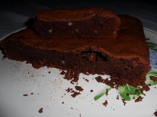 *** Brownie aux éclats de noix de pécan ***