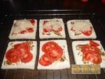 Tartine fond de placard : Tomate / Vache qui rit et moutarde à l'ancienne
