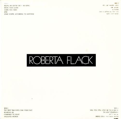 """Roberta Flack : Album """" Roberta Flack """" Atlantic Records P-5512-3A [ JP ]"""