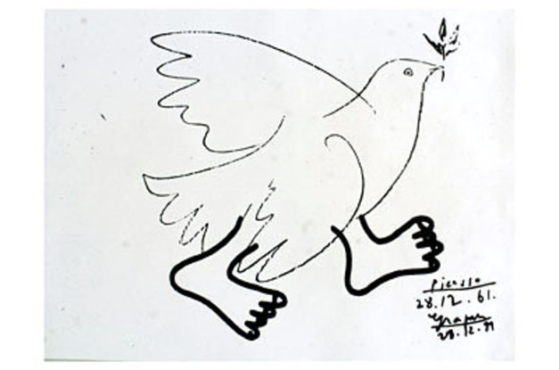 Colombe à pied/ Picasso