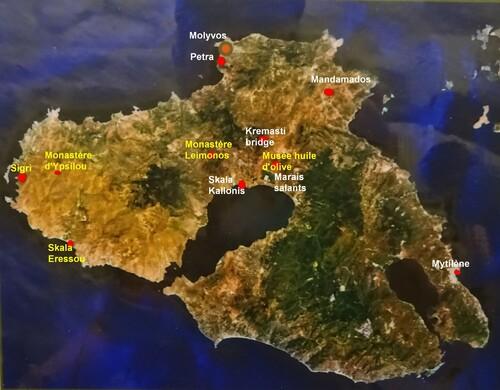 carte Lesbos