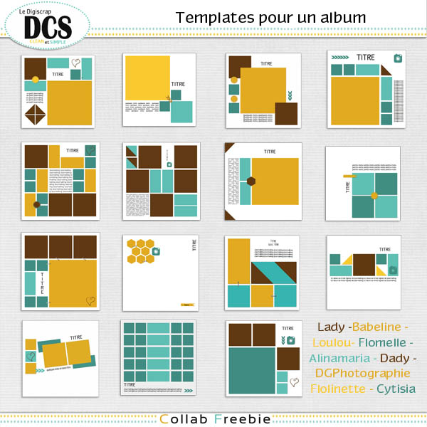 DCS: 15 templates pour 1 album