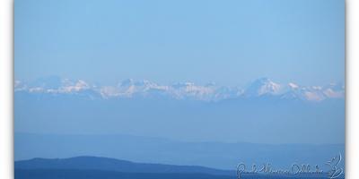 Les Alpes vu du Mont Lozère