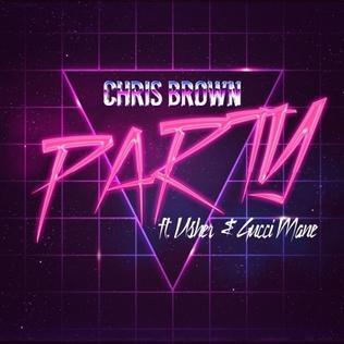 Pochette du single de Chris Brown qui s'inspire de l'esthétique dela Synthwave