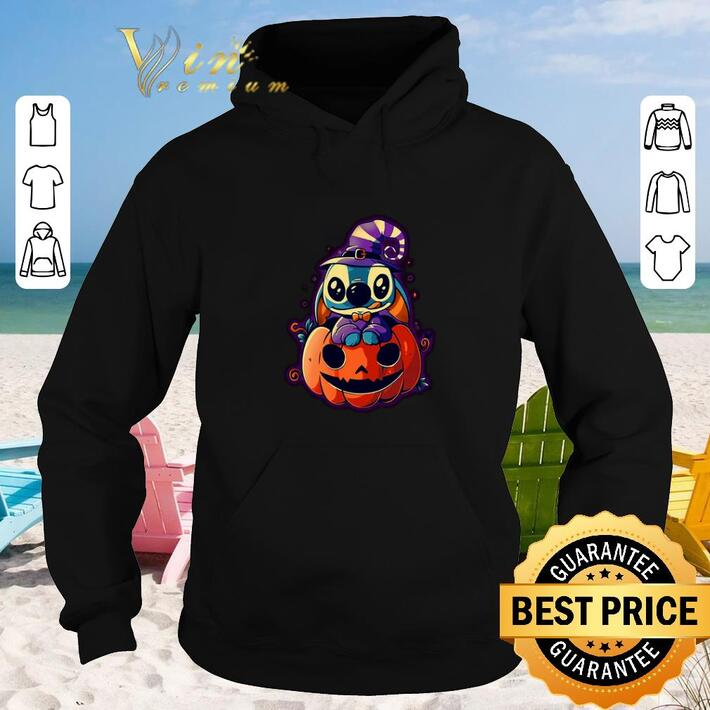 Funny Stitch and pumpkin shirt