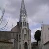 L'église de Marans et son clocher en verre