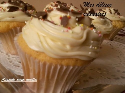 Cupcake coeur nutella