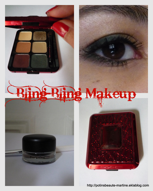 MAC : palette bling-bling Intriguing scarlet et gel liner en pot Fluidline Blacktrack