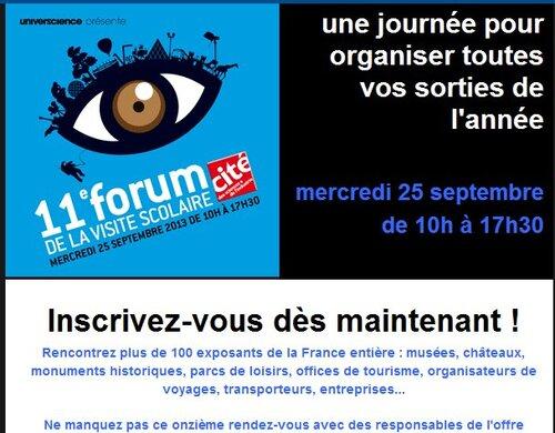11ème forum de la visite scolaire CITE DES SCIENCES