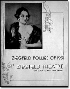 Ziegfeld Follies of 1931 - theatre program