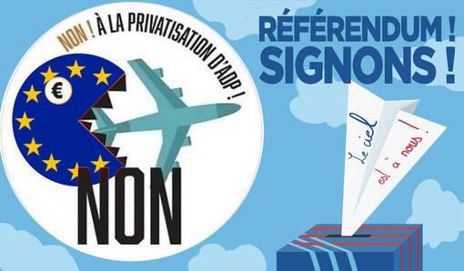 Référendum contre la privatisation de Aéroport de Paris, le recueil des 4,7 millions de signatures est lancé ! SIGNEZ ! #ADP #RIP