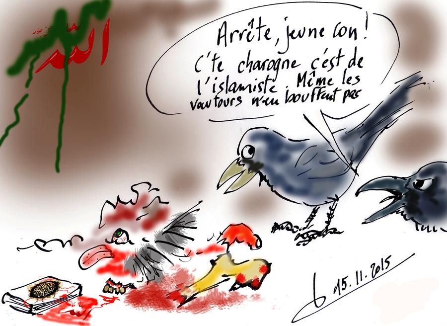 Dessin/islamismophobie aviaire