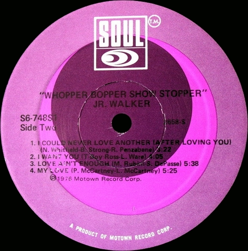 "Jr. Walker : Album "" Whopper Bopper Show Stopper "" Soul Records S6-748S1 [ US ]"