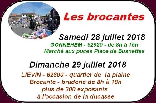 Loisirs à Arras et ses environs les 28 et 29 juillet2018.