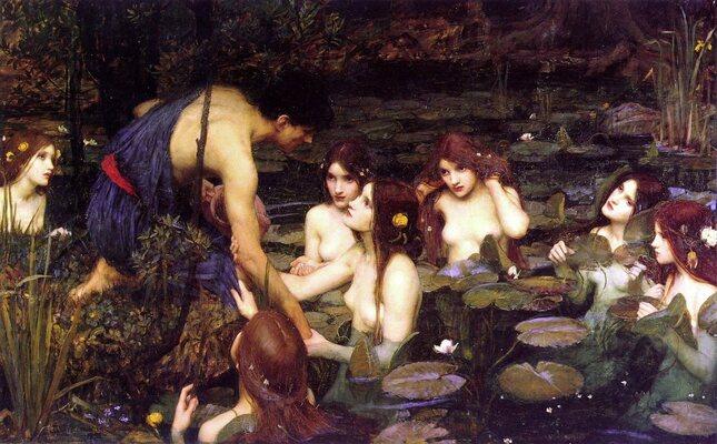 Waterhouse, Hylias et les nymphes