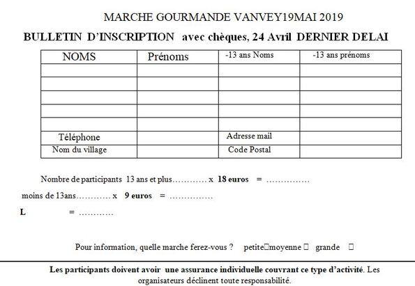 """La """"Balade Gourmande"""" 2019 aura lieu le 19 mai, inscrivez vous !"""