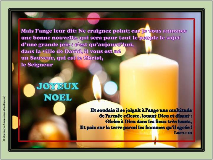 Joyeux Noël - Luc 2 : 10