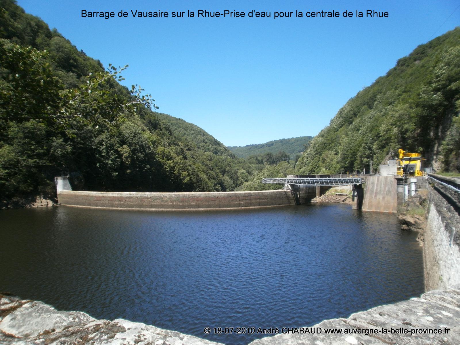 Barrage de Vaussaire sur la Rhue