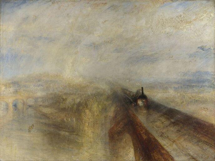 Pluie, Vapeur et Vitesse - Le Grand Chemin de fer de l'Ouest  - Turner