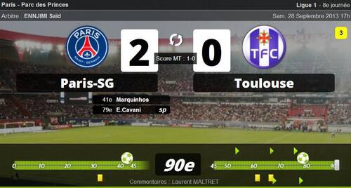 28 Septembre 2013 - Paris SG 2-0 Toulouse