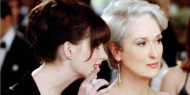 Anne Hathaway et Meryl Streep dans ''Le Diable s'habille en Prada''.