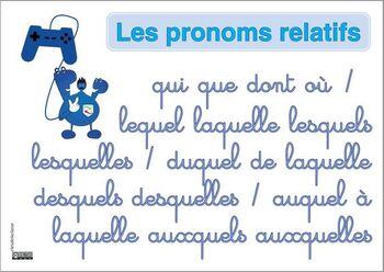 liste pronoms relatifs