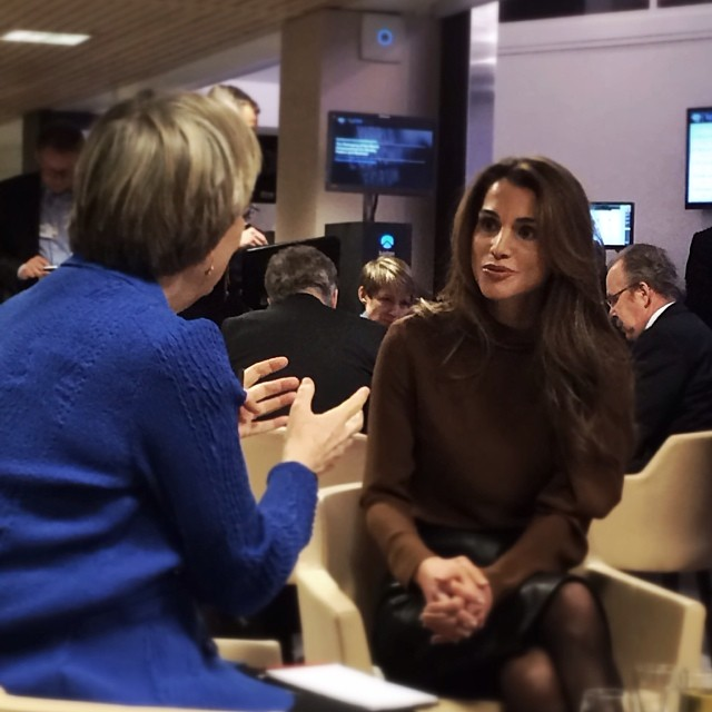 Rania à Davos