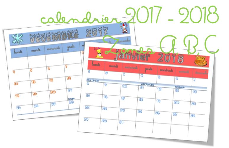 calendrier scolaire lutin bazar
