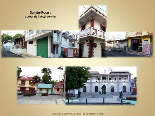 Le centre ville de Sainte Rose et son port