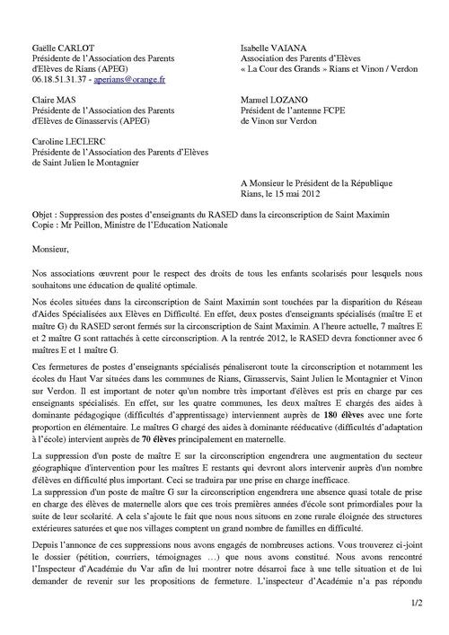 Actions de l'association 2011-2012
