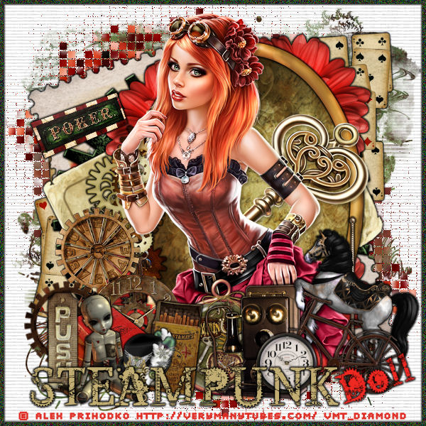"Tutoriel ""Steampunk Doll"" de Liligraph"
