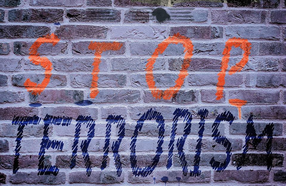 Mur, Wall, Terrorisme, Noir, Word, Droit, Violents