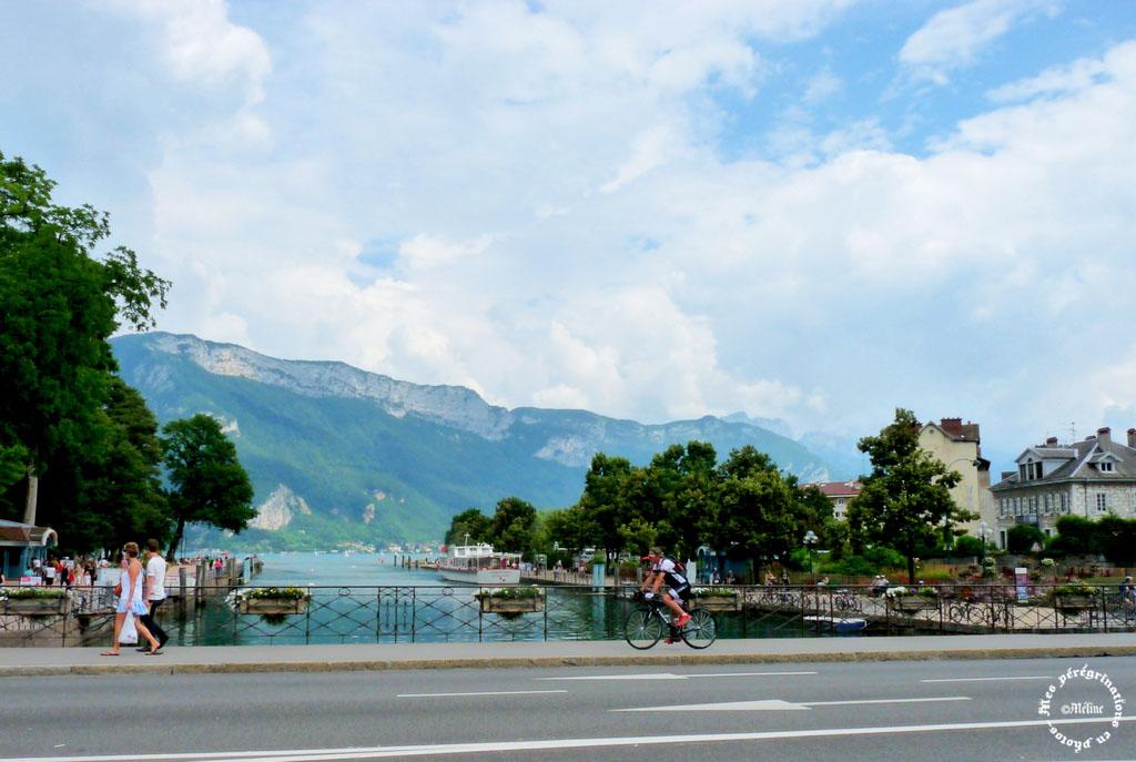 Arrivée au lac d'Annecy!