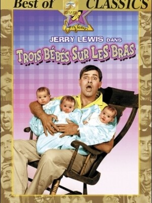 """3 Bébés Sur Les Bras : Harold, un imprésario, apprend que Clara Napoli, la vedette de son prochain film """"La Vierge Blanche du Nil"""" est enceinte et qu'elle ne connaît pas le père. Elle accouche dans la clandestinité de trois filles et les confie à son ami d'enfance Clayton. Celui-ci, un célibataire endurci, va avoir beaucoup de mal à s'occuper des trois bébés.... ----- ...  Date de sortie: 1958. Réalisateur: Frank Tashlin Acteur: Jerry Lewis, Marilyn Maxwell, Connie Stevens Genre: Comédie Durée 1h43 mi"""