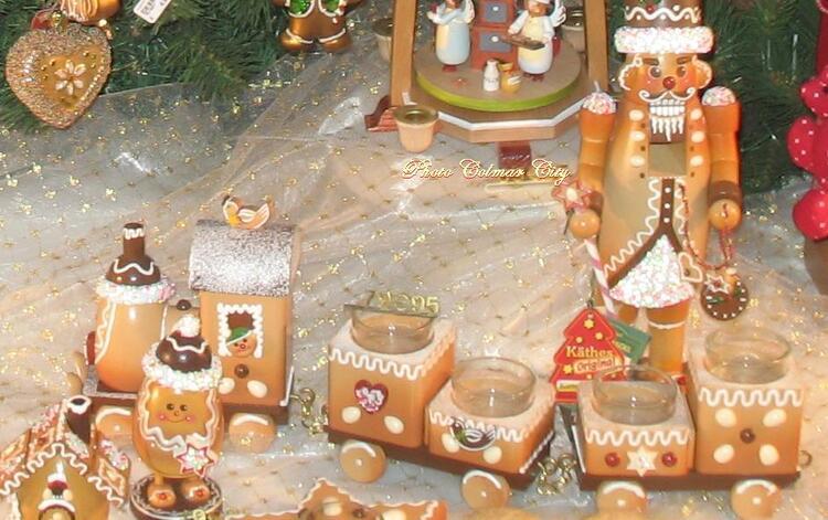 Au temps des Marchés de Noël : Vitrine à Riquewihr