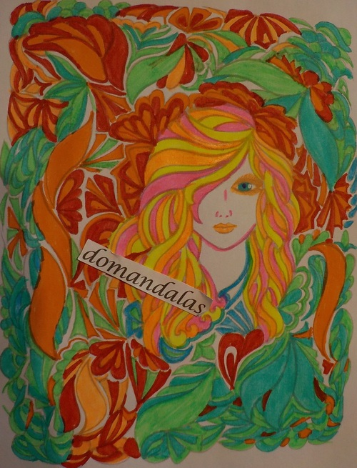 DOMANDALAS coloriages fanciful faces coloring book