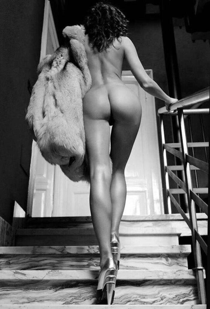 Plaisir dans l'escalier