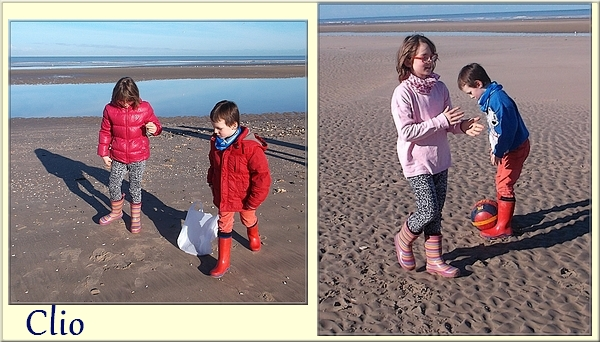 Sur une plage du Nord en février