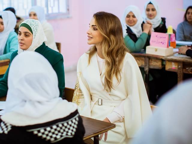 Rania à l'école