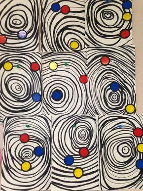 Idée arts : les cercles concentriques.